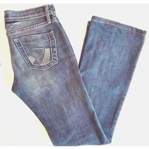 JAMES JEANS 27x32 dry aged denim bootcut jeans